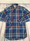 Johnnie B blue and orange checked long sleeved shirt age 11-12